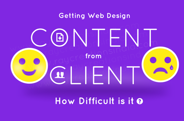 how difficult it is to get content from client for a new website.